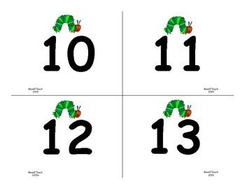 The Very Hungry Caterpillar Ten Frames 10-30 PLUS Word Match