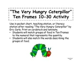 The Very Hungry Caterpillar Ten Frames 10-30 PLUS Word Match