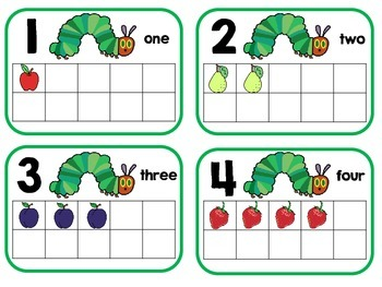 The Very Hungry Caterpillar Tens Frames Freebie
