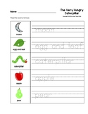 The Very Hungry Caterpillar Trace the Words Worksheets Pre