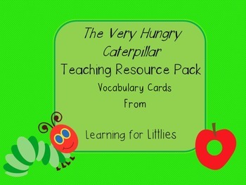The Very Hungry Caterpillar Vocabulary Cards Teaching Resource