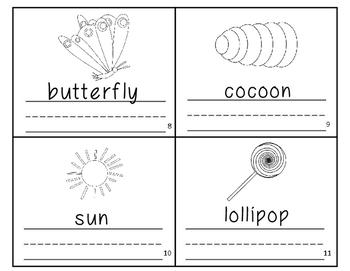 The Very Hungry Caterpillar Vocabulary Writing Practice Mini Book