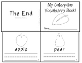 The Very Hungry Caterpillar Vocabulary Writing Practice Mini Book