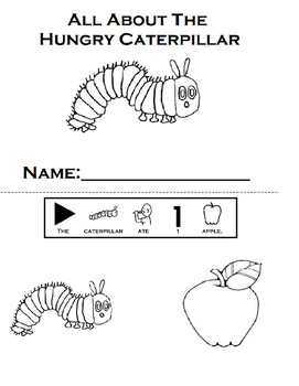 The Very Hungry Caterpillar Wookbook: Adapted, Retell (Autism, Speech)