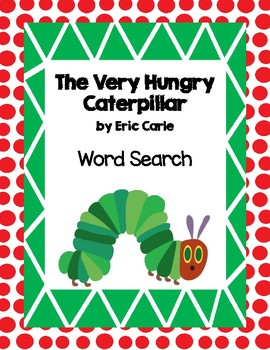 The Very Hungry Caterpillar Word Search
