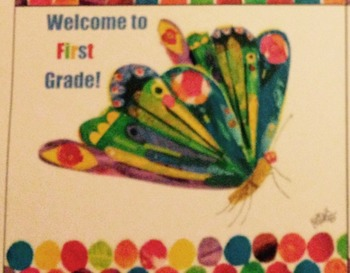 The Very Hungry Caterpillar back to school post cards