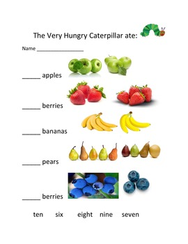 The Very Hungry Caterpillar by Eric Carle – Counting to Ten