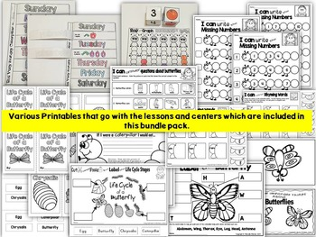 The Very Hungry Caterpillar by Eric Carle- Kindergarten Lessons & Activities