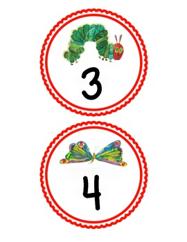 The Very Hungry Caterpillar by Eric Carle Table Labels