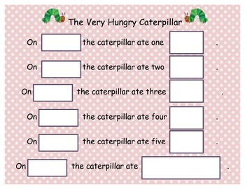 The Very Hungry Caterpillar - cut and paste