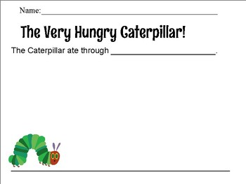 The Very Hungry Caterpillar extension activity
