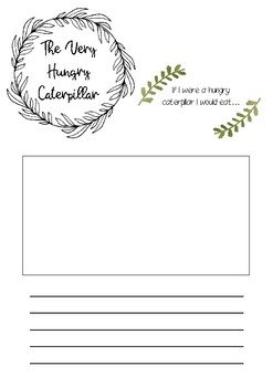 The Very Hungry Caterpillar printable resource