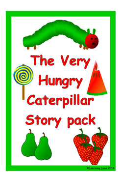 The Very Hungry Caterpillar story telling pack and life cycle pack