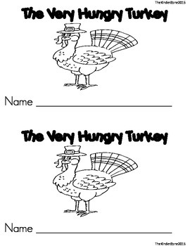 The Very Hungry Turkey Emergent Reader Book ** Perfect for Read to Self