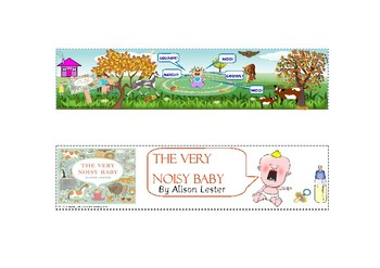 The Very Noisy Baby by Alison Lester Bokmarks CBCA Australia Find Your Treasure