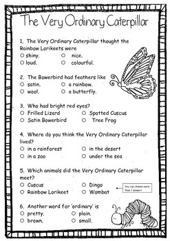 The Very Ordinary Caterpillar by Gary Fleming ~ A week of reading activities