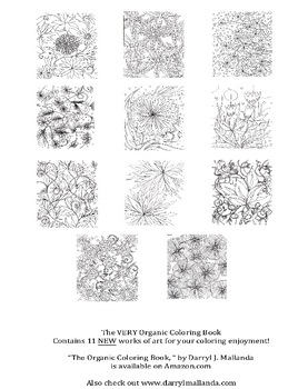 The Very Organic Adult Coloring Book (For Kids too!)