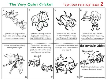 The Very Quiet Cricket Eric Carle Cut-Out Fold-Up Book