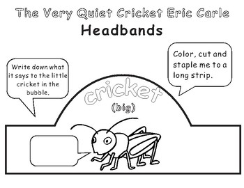 The Very Quiet Cricket Eric Carle: Headbands