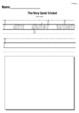 The Very Quiet Cricket by Eric Carle- Text to Self Writing Response Worksheet