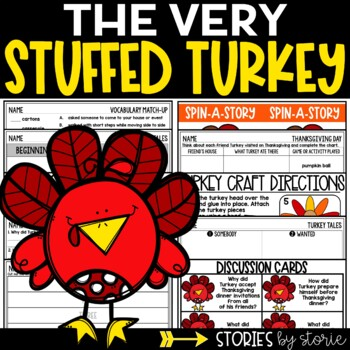 The Very Stuffed Turkey (Book Questions, Vocabulary, & Turkey Craft)