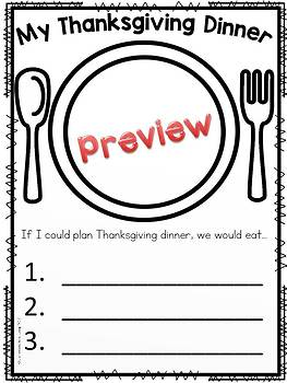 Turkey Crafts and Writing Activities