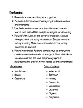 The Very Stuffed Turkey Guided Reading/Whole Group Reading Plans- Thanksgiving