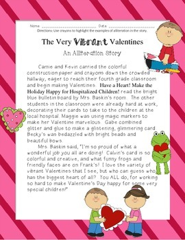 The Very Vibrant Valentines: An Alliteration Story