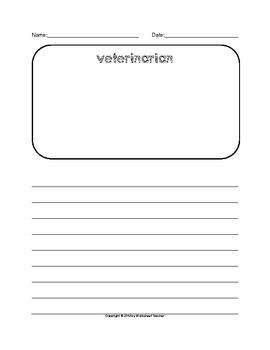 The Veterinarian Writing Paper Set