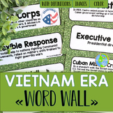Vietnam War and Cold War Word Wall