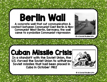 Vietnam War and Cold War Word Wall