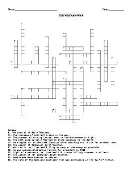 The Vietnam War-  Crossword Puzzle