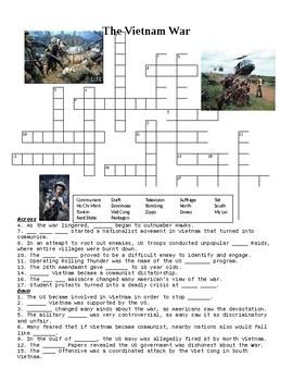 The Vietnam War Crossword or Web Quest