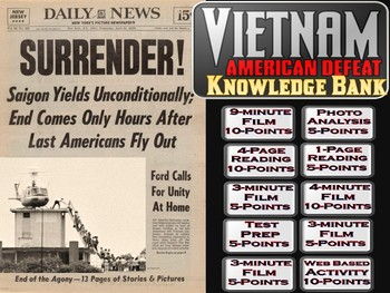 The Vietnam War, Part 3 (American Defeat) Digital Knowledge Bank