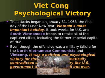 The Vietnam War - Tet Offensive