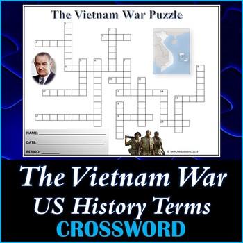 The Vietnam War US History Crossword Puzzle Activity Worksheet
