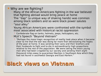 The Vietnam War and African Americans