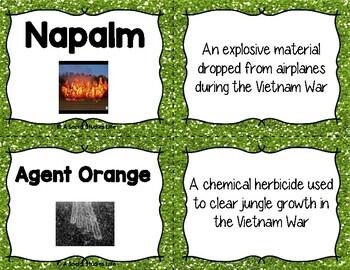 Vietnam War and Cold War Flash Cards