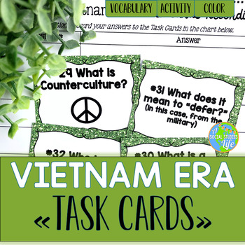 Vietnam War and Cold War Task Cards and Recording Sheet
