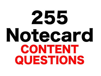 The View From Saturday 255 Content Questions Whiteboard Game