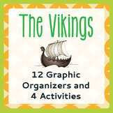 VIKINGS 12 Graphic Organizers and 4 Activities PRINT and TPT DIGITAL