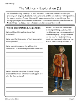 Vikings: 7 Graphic Organizers and 3 Activities