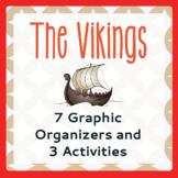 VIKINGS 7 Graphic Organizers and 3 Activities PRINT and TPT DIGITAL