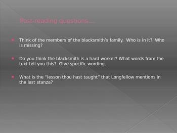 The Village Blacksmith (Longfellow) Poem Activity - FREE!