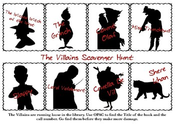 The Villains Scavenger Hunt in the Library