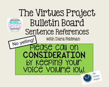 The Virtues Project Reference Sentences (with virtuous & non-virtuous language)