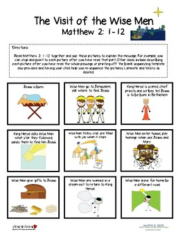 The Visit of the Wise Men - Story Sequencing