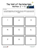 The Visit of the Wise Men - Story Sequencing blank template