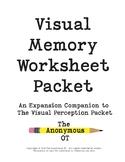 The Visual Memory Worksheet Packet