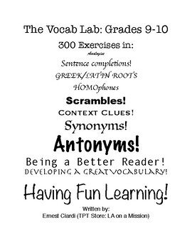 The Vocab Lab: Grades 9-10
